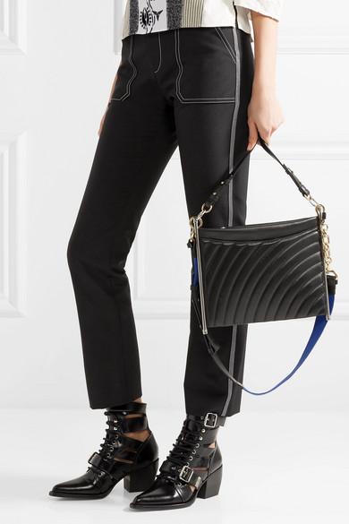 Chloé Roy Schultertasche aus Leder mit Steppmuster