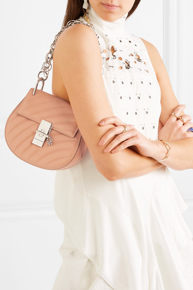 30f5e576666 Chloé. Drew Bijou quilted leather shoulder bag.  975. Zoom In