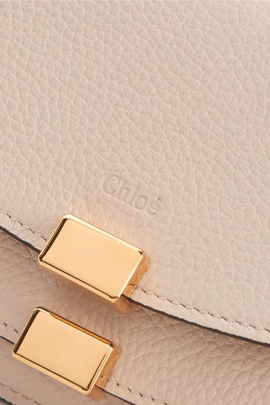 Chloé Georgia Portemonnaie im europäischen Stil aus strukturiertem Leder