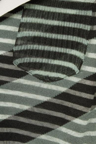 Fendi Verkürzter Pullover aus einer gestreiften Seidenmischung