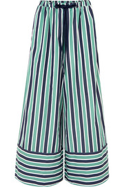 Fendi Striped cotton-poplin wide-leg pants