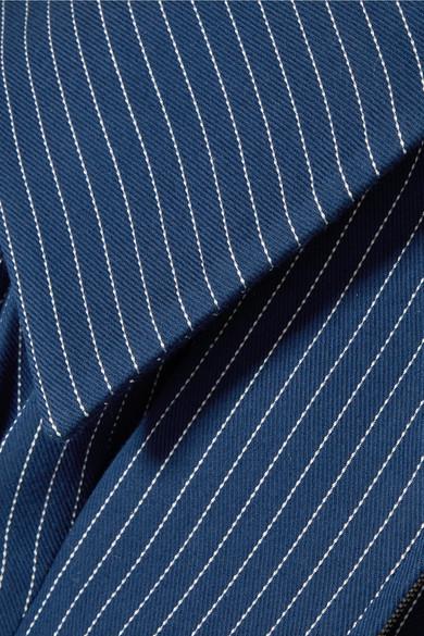 Fendi Schulterfreier Blazer aus Twill aus einer Baumwollmischung mit Nadelstreifen