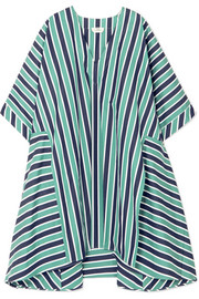 Fendi Striped cotton-poplin kaftan