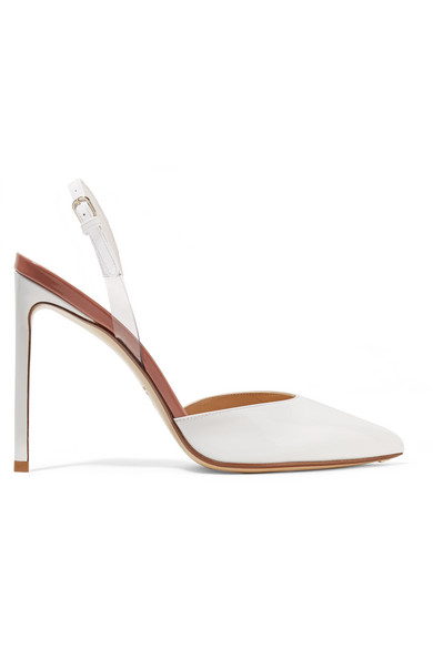 Leather slingback pumps Francesco Russo IjoAQpXO