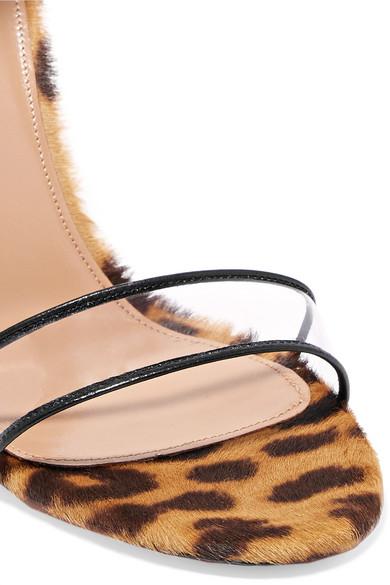 cefa4e45782f Aquazzura. Seduction PVC and leopard-print calf hair sandals. £534.83  £320.8940% OFF. Exclusive. Zoom In