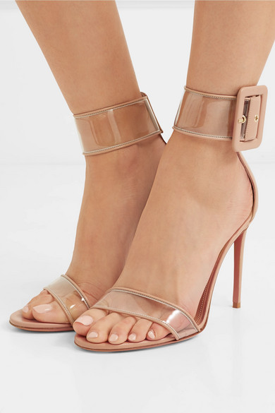 Aquazzura | Seduction PVC Sandalen aus PVC Seduction und Leder 475696