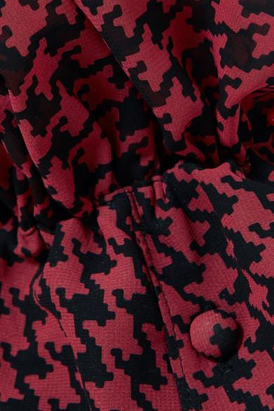 Rokh Midikleid aus bedrucktem Chiffon mit Cut-outs und Raffungen Eastbay Günstig Online Rabatt-Shop Räumungsverkauf Online Spielraum Echt cypT2j3t