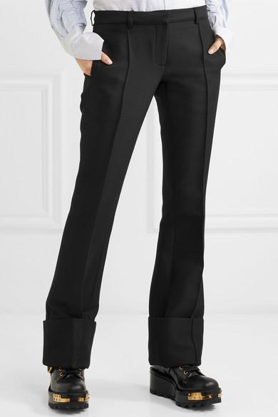 Wool-blend Straight-leg Pants - Black Rokh L9GVjPE7r