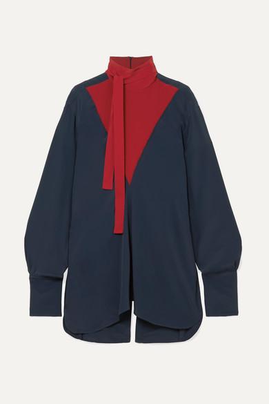 Rokh Zweifarbige Bluse aus Crêpe de Chine
