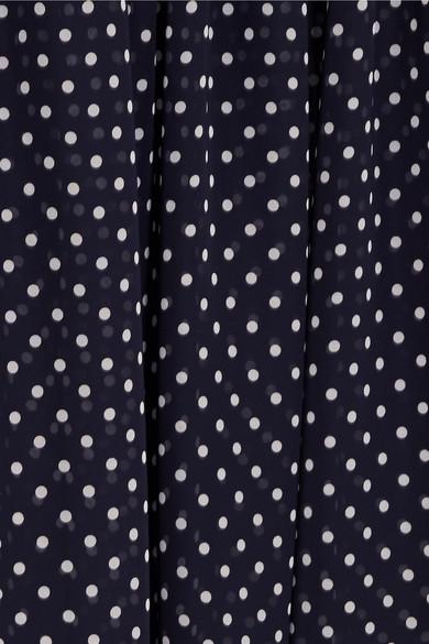 Rokh Dual Rock aus Twill mit Nadelstreifen und Chiffon mit Polka-Dots