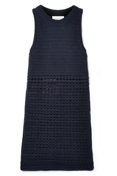ELEVEN SIX Sade Tunika aus gehäkelter Pima-Baumwolle