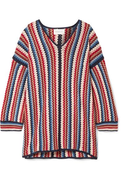 ELEVEN SIX Marlina gehäkelte Tunika aus Pima-Baumwolle