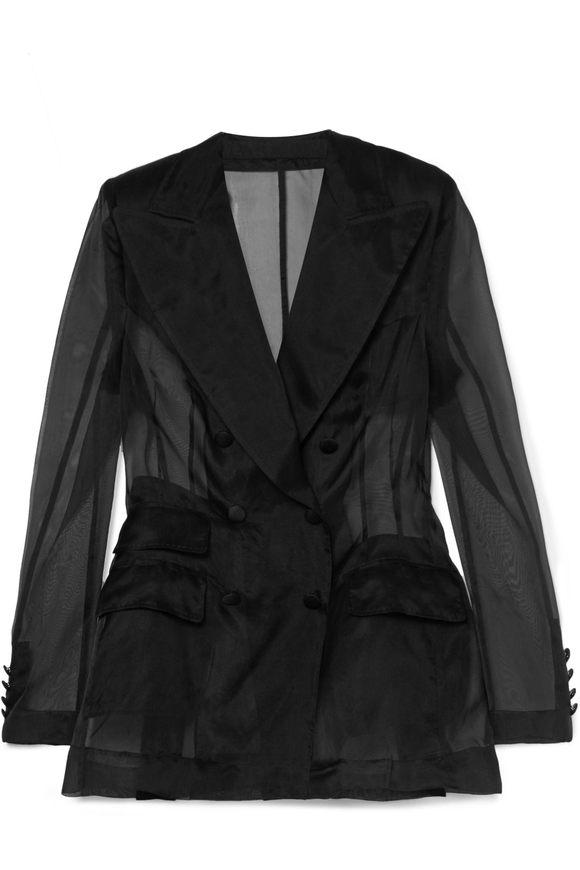 Dolce & Gabbana Doppelreihiger Blazer aus Seidenorganza