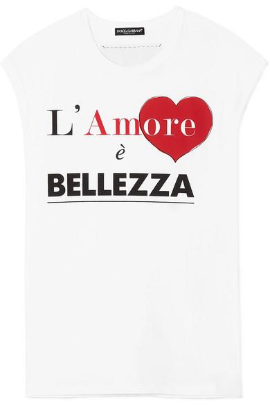 Dolce & Gabbana Bedrucktes T-Shirt aus Baumwoll-Jersey
