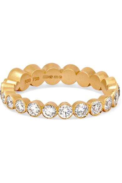 Croissant 18-karat Gold Diamond Ring - 52 Sophie Bille Brahe x79chq