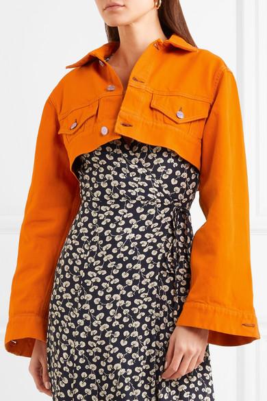 f5ac1646b63 GANNI | Cropped denim jacket | NET-A-PORTER.COM