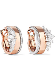 18-karat rose and white gold diamond earrings