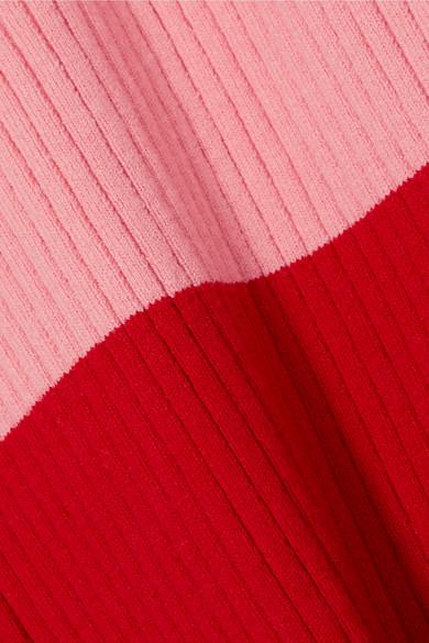 JoosTricot Midikleid aus einer gerippten Baumwollmischung in Colour-Block-Optik