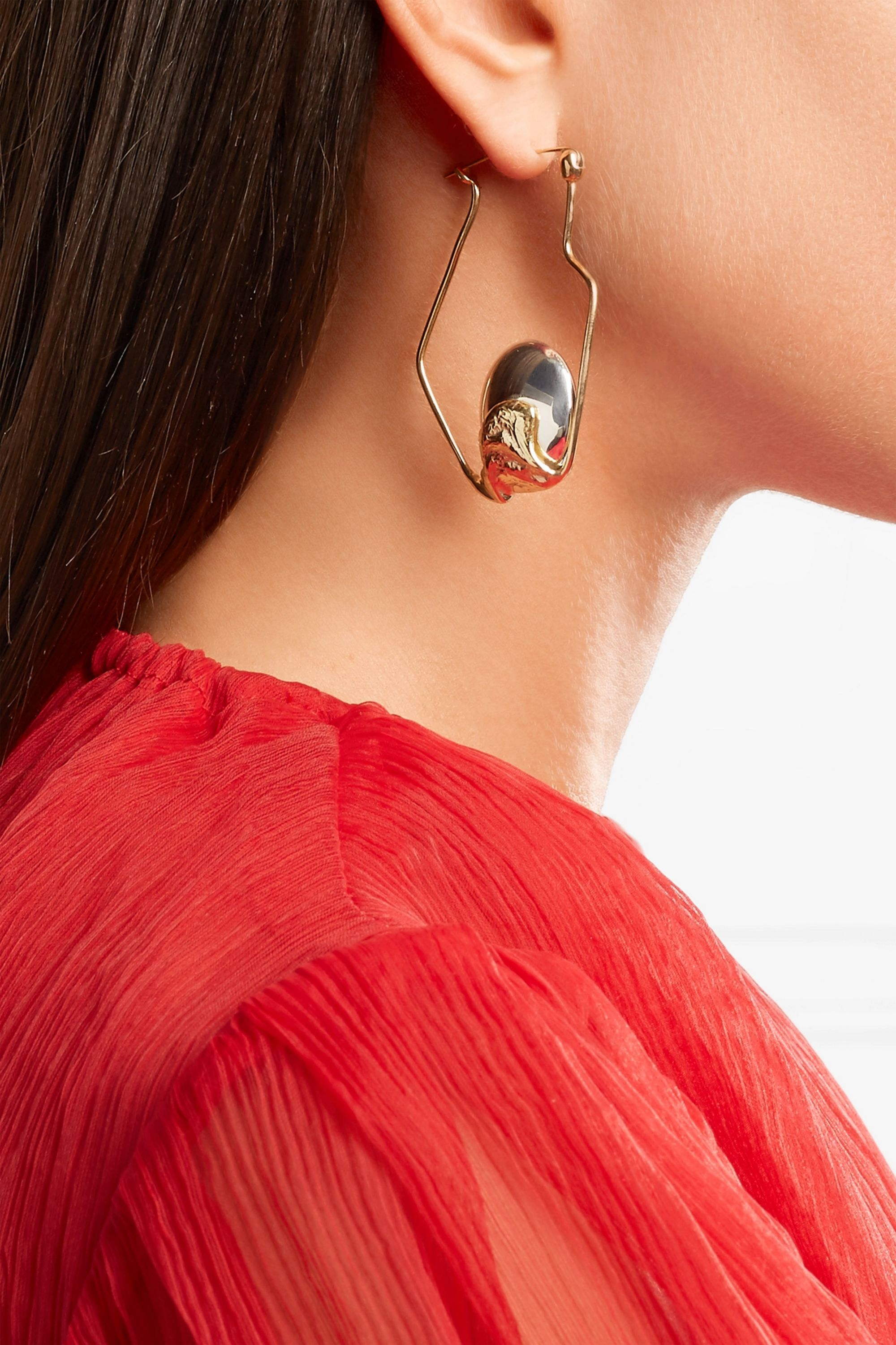 Ellery Cusp Oyster gold-plated and silver hoop earrings
