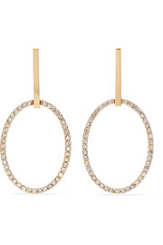 Empty Mirror 18-karat gold diamond earrings