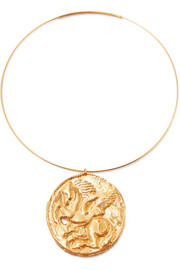 Pegasus gold-plated choker