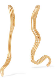 La Selva Oscura gold-plated earrings