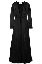 we are LEONE Silk-charmeuse robe