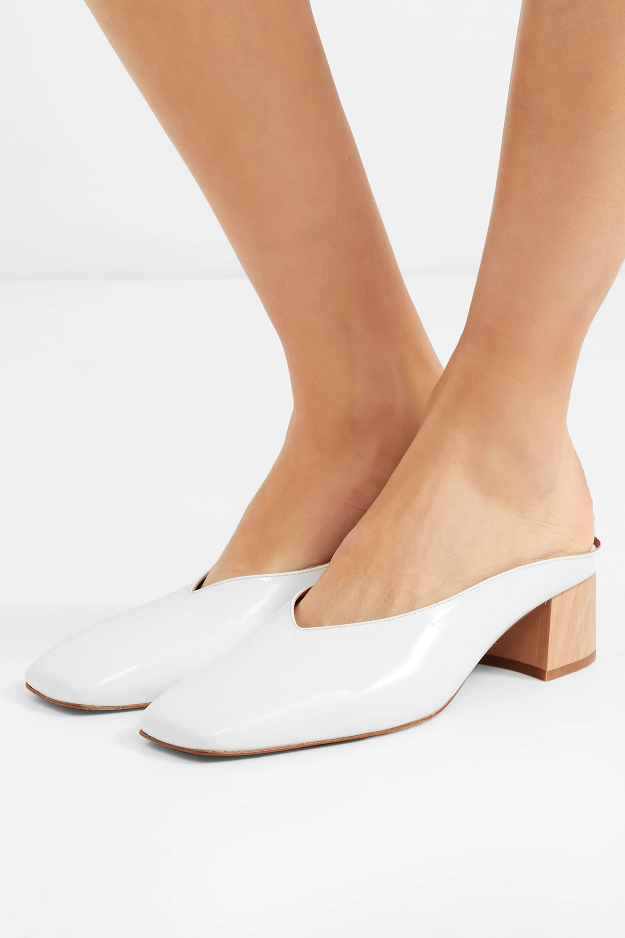 BY FAR Karen patent-leather mules