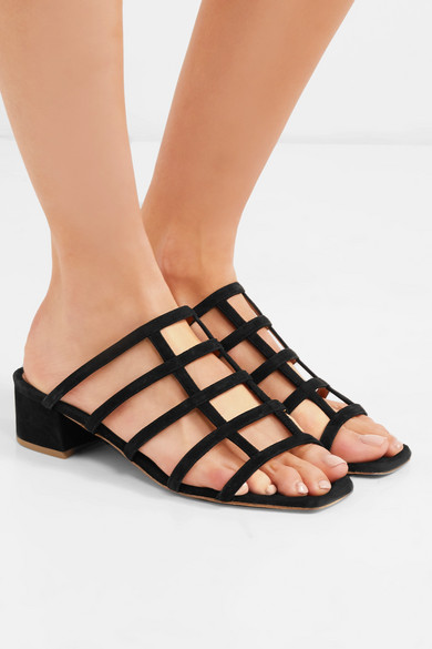 By Far Grid Sandals From Suede