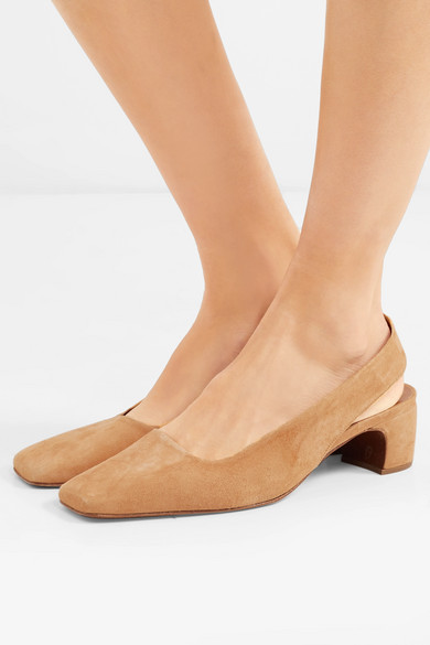 BY FAR Danielle Slingback-Pumps aus Veloursleder