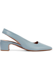 BY FAR Danielle leather slingback pumps