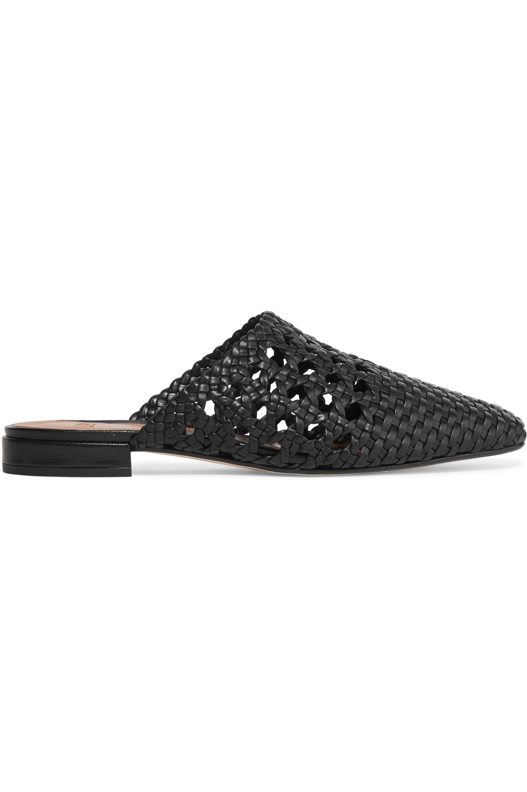 LOQ Marti woven leather slippers