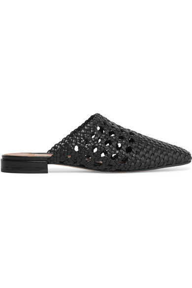 Marti Woven Leather Slippers by Loq
