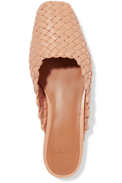 Galia Woven Leather Slippers by Loq