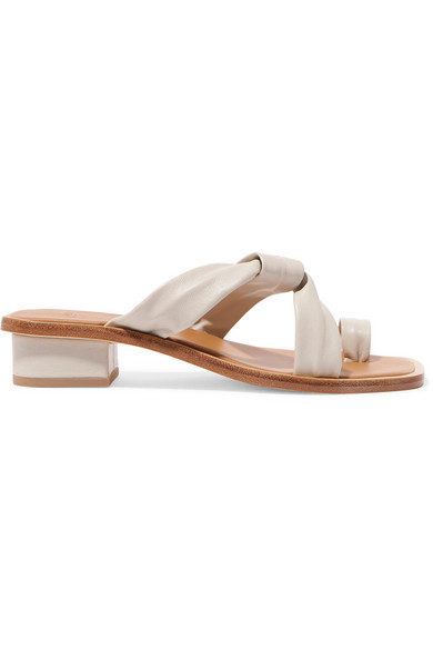 Wide Range Of Cheap Online Buy Cheap 2018 New LOQ Pau Stone Leather Sandals Outlet Pre Order 2018 New AXj1D0M3