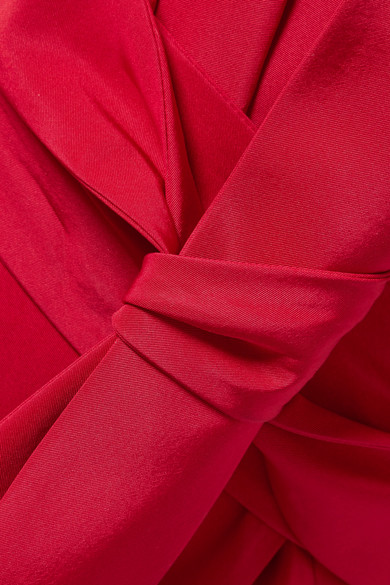 Carolina Herrera Geraffte Robe aus Seiden-Faille