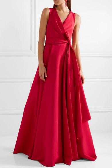 Carolina Herrera Gathered Silk Faille Gown Net A Portercom