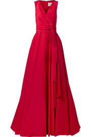 Carolina Herrera Gathered silk-faille gown