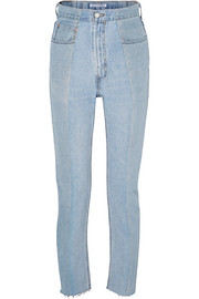 E.L.V. Denim The Twin two-tone high-rise straight-leg jeans