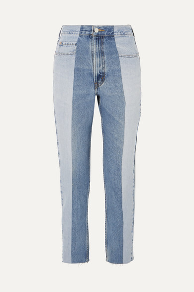 The Twin Two-tone High-rise Straight-leg Jeans - Blue E.L.V. Denim Lk24xzw