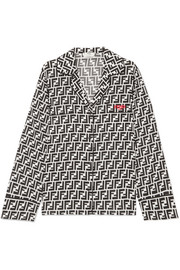 Fendi Printed silk crepe de chine blouse