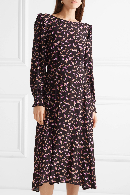 Paul & Joe Floral-print crepe midi dress