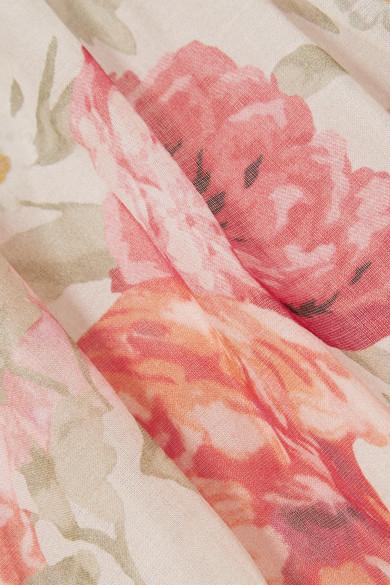 Paul & Joe Maxikleid aus Baumwoll-Gaze mit Blumendruck