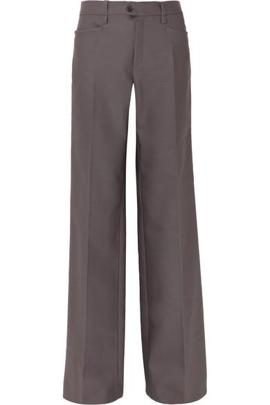 Chloé Hose mit weitem Bein aus einer Wollmischung