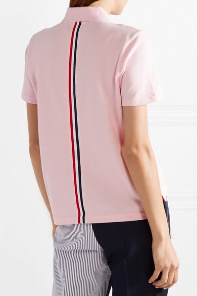 Thom Browne Polohemd aus Baumwoll-Piqué mit Streifen