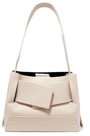 Biggy textured-leather tote