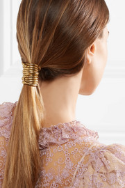 Medusa gold-plated hair tie