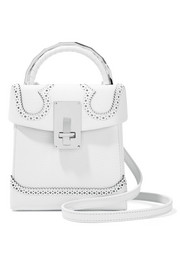 Alice laser-cut leather shoulder bag