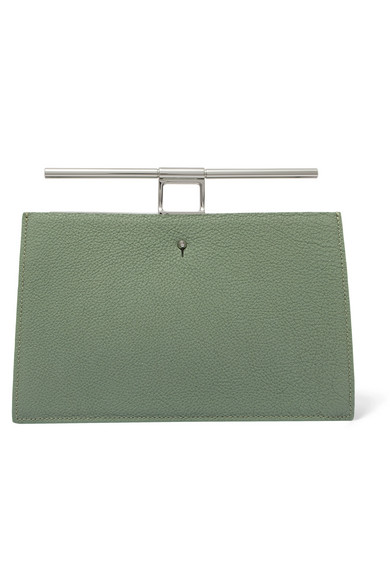 THE VOLON Chateau mini Clutch aus strukturiertem Leder