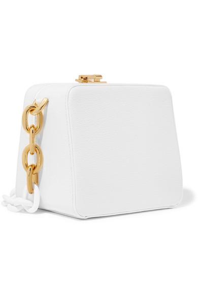 THE VOLON Cube Schultertasche aus strukturiertem Leder